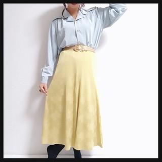 値下げ可♥*VintageフラワーパターンフレアSKT♥*(ひざ丈スカート)