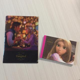 ディズニー(Disney)のラプンツェル  メモ帳&クリアファイル (クリアファイル)