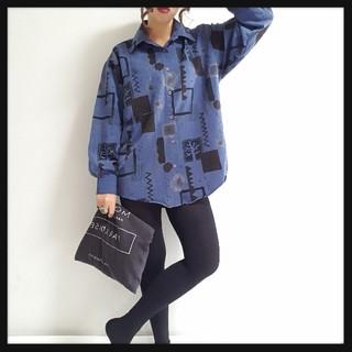 値下げ可♥*メンズライクアート柄個性派BIGシャツ♥*(シャツ/ブラウス(長袖/七分))