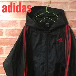 アディダス(adidas)のアディダス ジャンパー ウィンドブレーカー 黒 160 ジッパー(その他)
