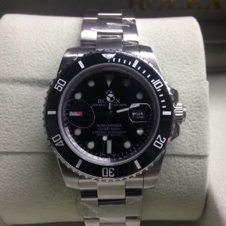 ロレックス(ROLEX)のロレックス 黒文字盤 金属ベルト メンズ腕時計(金属ベルト)