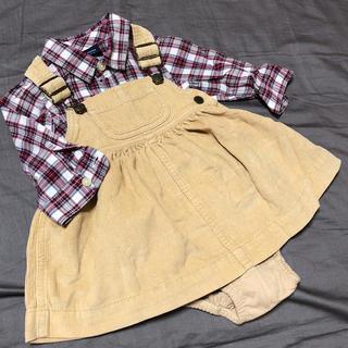 ベビーギャップ(babyGAP)のベビーギャップ☆ジャンパースカート&シャツ  70(ワンピース)