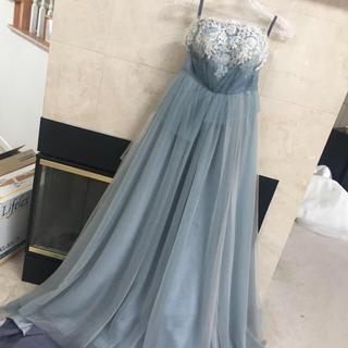 ブルーグレー カラードレス