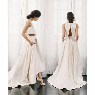 アレクサンドラグレコ風 セパレート ウエディングドレス ツーピース(ウェディングドレス)