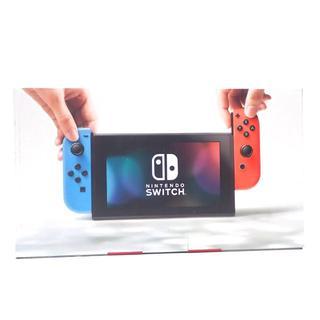 ニンテンドースイッチ(Nintendo Switch)のD49 未使用品 ニンテンドースイッチ 本体 ネオンレッド/ネオンブルー(家庭用ゲーム本体)