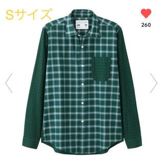 GU - 【Sサイズ】GU×キムジョーンズ フランネルチェックカラーブロックシャツ