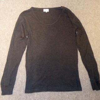 サンスペル(SUNSPEL)のSUNSPEL  長袖Tシャツ Uネック サイズ S ダークグレー サンスペル (Tシャツ/カットソー(七分/長袖))