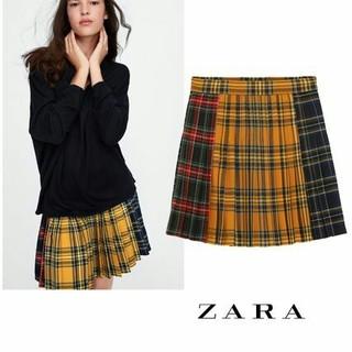 ザラ(ZARA)のZARA チェック スカート 安室 奈美恵(ミニスカート)