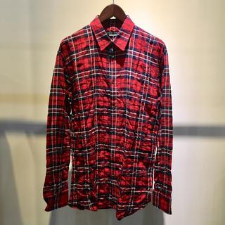 ディースクエアード(DSQUARED2)のDSQUARED2 ディースクエアード 新品 チェック ネルシャツ 48 レッド(シャツ)