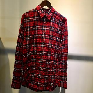 ディースクエアード(DSQUARED2)のDSQUARED2 ディースクエアード 新品 チェック ネルシャツ 46 レッド(シャツ)
