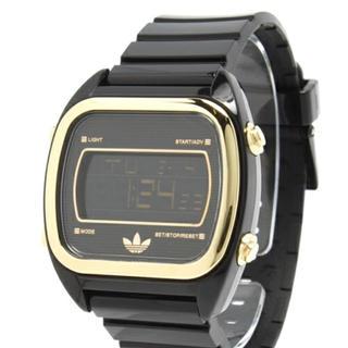 アディダス(adidas)のアディダス時計デジタル黒金(腕時計(デジタル))