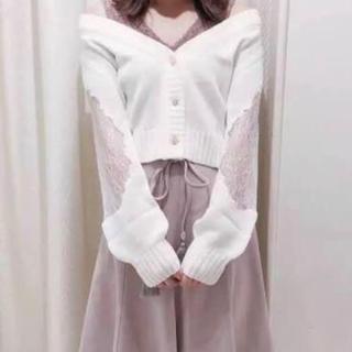 evelyn - 新品タグ付き♡アンミール ♡オフショルレースカーディガン♡
