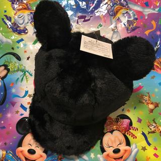 Disney - 新品タグ付♡ ミッキー  耳付き ふわもこ キャップ 黒 ディズニーリゾート