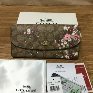 COACH - COACH コーチ 新品未使用 長財布 男女兼用 F29395 ピンク
