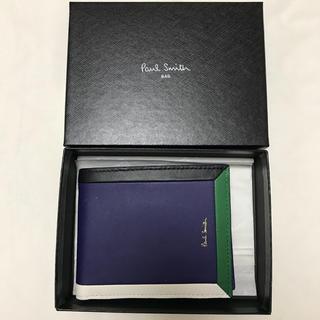 新品 ポールスミス  カラーブロックフレーム財布 羊革