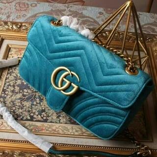 Gucci - GUCCIグッチ GG Marmont ベルベットミニショルダーバッグ