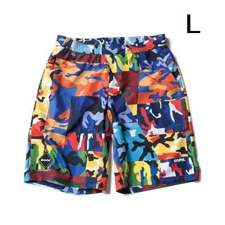 F.C.R.B. - 【L】FCRB 18SS CAMOUFLAGE PRACTICE SHORTS