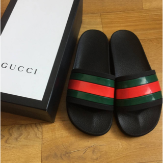 Gucci - GUCCI ウェブ スライド サンダル