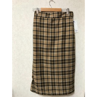 GU - GU  タータンチェックナローミディスカート