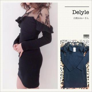 Delyle NOIR - Delyle♡レースショルダーフリルワンピ