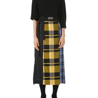 ENFOLD - ENFOLD チェックラップスカート