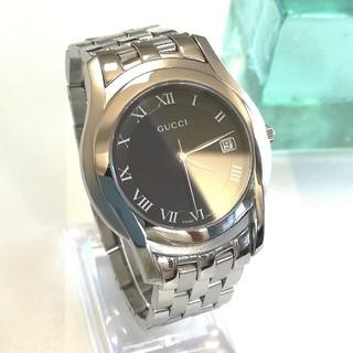 Gucci - 綺麗 グッチ 5500M メンズ レディース 時計 黒 クォーツ 3針 美品