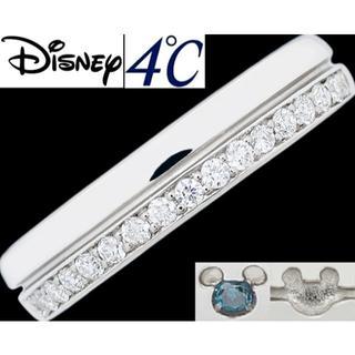 ディズニー(Disney)のディズニー 4℃ ミッキー ダイヤ Pt950 リング 指輪 6号(リング(指輪))