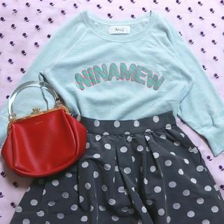 ニーナミュウ(Nina mew)のスウェット♡スカイブルー♡ロゴ(トレーナー/スウェット)