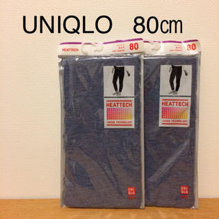 UNIQLO - 【新品】80㎝ UNIQLO ヒートテックタイツ 2枚組