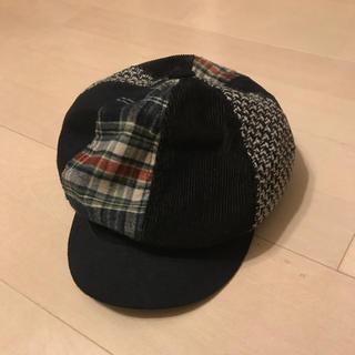チェックのキャスケット帽(キャスケット)