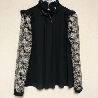 ZARA - 刺繍シフォンシャツ