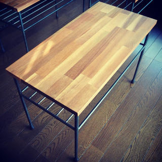 特別価格⌘アイアンアカシアテーブル⌘ サイドテーブル ベンチ  スツール デスク(ローテーブル)