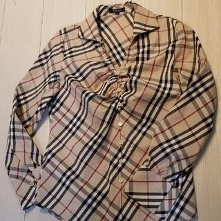 BURBERRY - バーバリーチェックシャツ バーバリーブラウス バーバリーロンドン 40  L