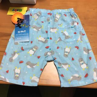 シマムラ(しまむら)の新品80センチベビー男児ステテコ風ハーフパンツ(パンツ)