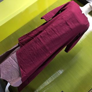 マライカ(MALAIKA)の再入荷【新品】マライカ  コットンサルーレイヤーワンピース 赤紫(ロングワンピース/マキシワンピース)
