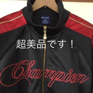 チャンピオン(Champion)の超美品です!Champion ビッグロゴ トラックジャケット 赤金ライン(ジャージ)
