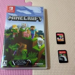 ニンテンドースイッチ(Nintendo Switch)の任天堂スイッチソフト3本 マインクラフト、スプラトゥーン2、ワンツースイッチ(家庭用ゲームソフト)