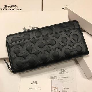 COACH - コーチ 新品 メンズ ブラック レザー 60735 長財布
