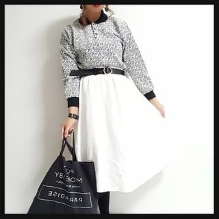 売りきりSALE//Simpleホワイトフレアスカート♥(ひざ丈スカート)