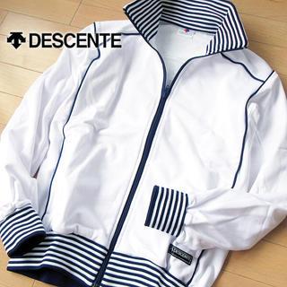 デサント(DESCENTE)の超美品 Mサイズ デサント メンズ ジャージ/ジャケット ホワイト(ジャージ)