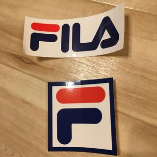 フィラ(FILA)のFILA ステッカー2種類(しおり/ステッカー)