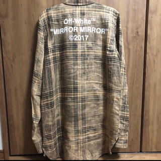 OFF-WHITE - OFF-WHITE Linen Check Shirts S