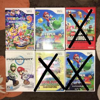ウィー(Wii)のマリオ 3点セット(家庭用ゲームソフト)