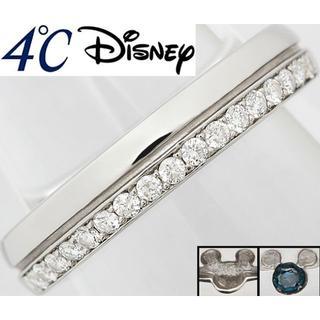 ディズニー(Disney)のディズニー 4℃ ラブ・ミッキー ダイヤ Pt リング 指輪 7号(リング(指輪))