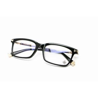 クロムハーツ(Chrome Hearts)のクロムハーツ メガネ アイウェア FUN HATCH-A ブラック ゴールド(サングラス/メガネ)