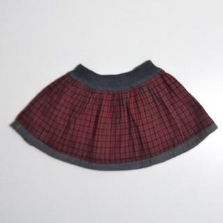 ファミリア(familiar)のファミリア リバーシブル スカート 90 女の子 定番 チェック(スカート)