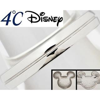 ディズニー(Disney)のディズニー 4℃ ラブ・ミッキー Pt リング 指輪 メンズ 16号(リング(指輪))