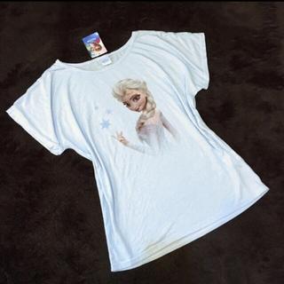 ディズニー(Disney)の新品!■アナと雪の女王 エルサ ドルマントップス■ Lmレディース(Tシャツ(半袖/袖なし))