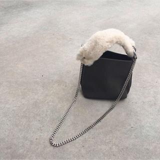 ザラ(ZARA)のザラ ファーチェーンバッグ ミニポシェット 小ぶりで可愛いカバン♡送料込(ショルダーバッグ)