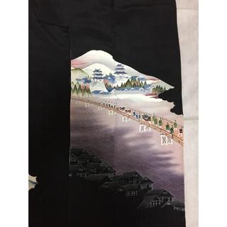 タケヤ(竹屋)のしつけ付き 黒留袖 正絹 着物 (花菱紋) 竹屋(着物)